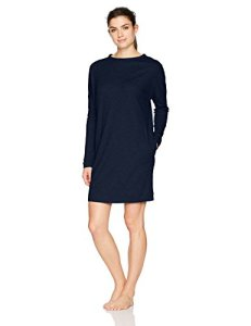 HANRO Women's Enie Long Sleeve Short Gown, Ocean, X-Small