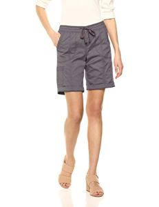 LEE Women's Petite Flex-to-go Relaxed Fit Pull-on Cargo Bermuda Short