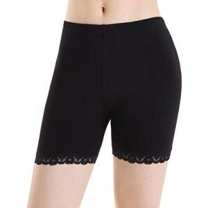 Leggings Court Femme Noir Shorts Sport sous Jupe Longue Légers Pantalon Jogging