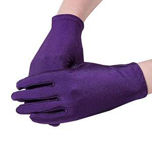 Lubier Perles de couleur unie Femmes Gants Femmes Satin Gants Etiquette Gants Protection solaire 1 Paire 9 Couleurs