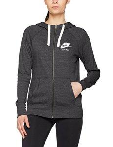Nike Sportswear Gym Vintage Hoodie FZ Sweat à Capuche Femme, Anthracite/Sail, FR (Taille Fabricant : XL)