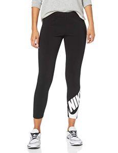 Nike W NSW LEGASEE LGGNG 7/8 Futura Pantalon de Sport Femme, Black/(White), FR : S (Taille Fabricant : S)