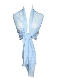 Topmode Etole écharpe femme en mousseline polyester (200cm x 70cm, Bleu ciel)