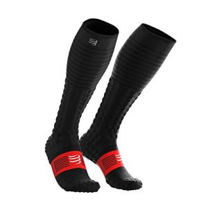 ZFLIN Chaussettes de Compression Marathon Cross-Country Course à Pied Cyclisme randonnée légère Chaussettes de Compression et de récupération pour la récupération-Black-L