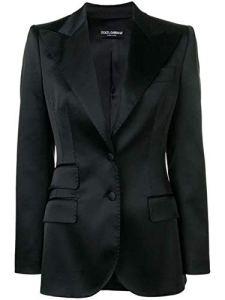 Dolce E Gabbana Femme F296ttfurhun0000 Noir Satin Blazer