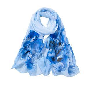 HEETEY – Fichu – Femme – Bleu – Taille unique