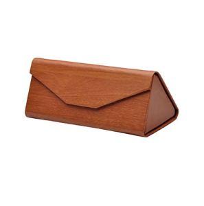 henyangsh Boîte à lunettes triangulaire pliante fabriquée à la main 16 x 6,8 x 6,4 cm – – Taille unique