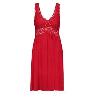 Hunkemöller Femme Nuisette Modal Lace Rouge L