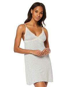 Iris & Lilly Belk364m1 Chemises Robes de Nuit, Gris (Heather Grey), 38 (Taille Fabricant: Small)