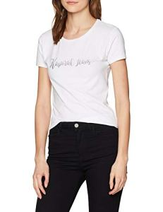 Kaporal Busy, T- T-shirt Femme, Blanc (White)), Medium (Taille fabricant:Medium)