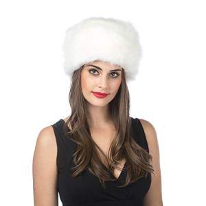 Lucky Leaf Femme Homme Faux Fox Chapeau De Fourrure d'hiver (H-Blanc)