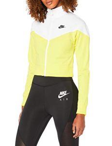 Nike W NSW HRTG Track JKT PK Veste Femme, Jaune (opti yellow White/Black), FR : S (Taille Fabricant : S)