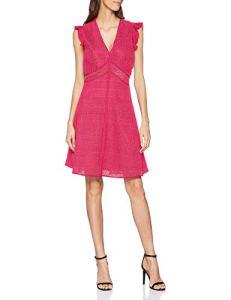 Pinko Snello Abito Pizzo Rebrode Stretch Robe, Rose (Barbabietola Ch N17), 40 (Taille Fabricant: 44) Femme