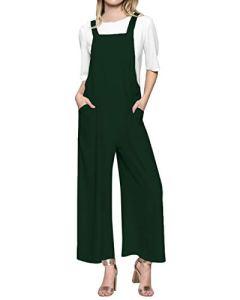 Style Dome Femme Salopette Longue Combinaison Jumpsuit Casual Ample Harem Sarouel Pantalon A-Vert M