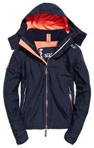 Superdry Arctic Hooded Cliff Hiker Veste de Sport, Bleu (New Navy Marl/Coral Blush Xg2), Medium (Taille Fabricant: 12.0) Femme