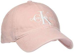 Calvin Klein Jeans J Monogram Cap W Casquette De Baseball, Rose (Strawberry Cream 636), Unique (Taille Fabricant: OS) Femme