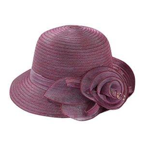 Fannyfuny-Chapeau Femme Ete Visière Chapeau de Pêcheur Organza Protection Solaire Pliable Léger Respirable Mode Elegante Couleur Unie Chapeau de Fête de Mariage