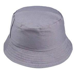 liYEZI Unisexe Chapeau Bob Pêcheur en Coton Chapeau de Soleil Couleur de Bonbon Pliable Anti-UV Protection pour Adultes 2019 Grande Vente (Gris Foncé)