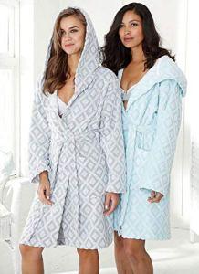 MyHome Peignoir à Capuche Taille L 607615 Peignoir de Sauna pour Femme en Coton éponge