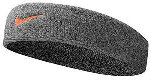 Nike Bandeau avec Logo Taille Unique Anthracite/Bright Crimson
