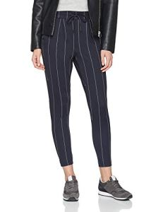 ONLY NOS Onlpoptrash Tempo Stripe Pant PNT Noos Pantalon, Multicolore (Night Sky Stripes:White), W31/L32 Femme