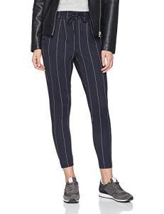 ONLY NOS Onlpoptrash Tempo Stripe Pant PNT Noos Pantalon, Multicolore (Night Sky Stripes:White), W31/L32 Femme