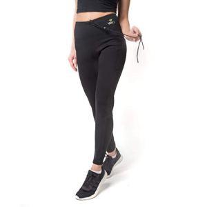 VEOFIT Pantalon de Sudation Taille XL pour Tonifier Ses Jambes et Obtenir Un Ventre Plat sans Cellulite : Legging à Taille Ajustable et Poche latérale, Guide Minceur et Sac à Dos Offerts