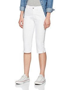 Vero Moda NOS Vmhot Seven Nw DNM Slit Knicker Mix Noos Pantalon, Blanc Bright White, 42 (Taille Fabricant: Large) Femme