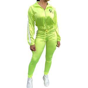 Yying Jogging Costumes Femmes Deux Pièce Sport Suit Running Ensemble Femmes Sportswear À Manches Longues Veste Pantalon Lady Workout Sports Costumes