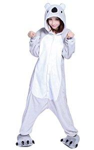Anguang Animal Style Kigurumi Pyjama Unisexe Adulte Anime Pyjamas Onesie Cospaly Fête Costume Vetements De Nuit (Koala, Size M)