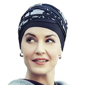 Christine Headwear Bonnet en Bambou Shanti Noir et Marron pour Traitement de chimiothérapie