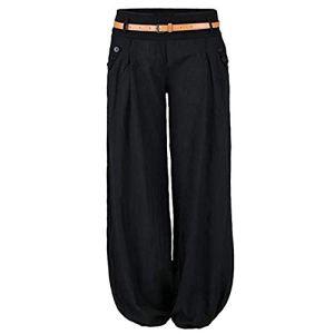 Cysincos Femme Pantalon Fluide Bouffante Elastique Sportwear Yoga Aladin Harem Pant de Plage Sarouel Casual Super Doux