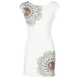 Desigual Vest_Shanon Robe, Blanc (White 1000), Large Femme