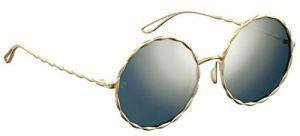 Elie Saab Lunettes de Soleil ES 004/S GOLD/GREY GOLD PLATED FINISH femme