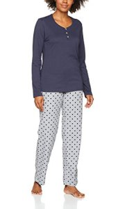 Esprit 077ef1y050 Ensemble De Pyjama, Gris (Light Grey 040), 42 Femme
