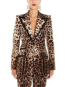 Luxury Fashion | Dolce E Gabbana Femme F29CETFSWBHHY13M Marron Blazer | Automne Hiver 19