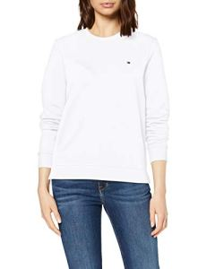 Tommy Hilfiger Heritage Crew Neck Sweatshirt Sweat-Shirt Femme,Blanc (Classic White 100) , X-Small