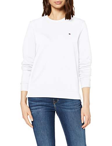 Tommy Hilfiger Heritage Crew Neck Sweatshirt Sweat-Shirt Femme,Blanc (Classic White 100) , X-Small