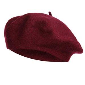 VGLOOK – Béret – Femme Taille Unique – Rouge – Taille Unique