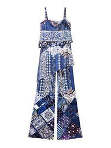 Desigual Jumpsuit Femme Pant Candice 19SWPK10 l Bleu