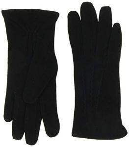 Gant D1. Suede Gloves, Noir (Black 5), Medium Femme