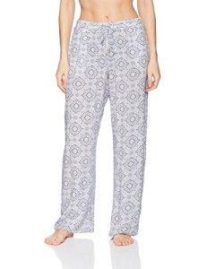HANRO Women's Sleep and Lounge Woven Long Pant, Ornamental Print, Large