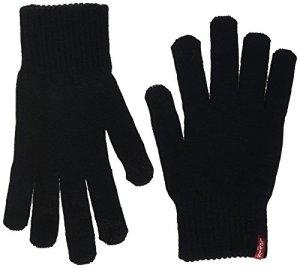 Levi's BEN TOUCH SCREEN GLOVES Gants, Noir (Regular Black 59), Small (Taille fabricant:S) Femme