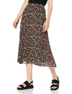 Only Onflmisha Plisse Midi Skirt WVN Jupe, Multicolore (Black AOP: Neon Summer Ditsy), 38 (Taille Fabricant: 36) Femme