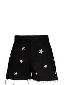 SAINT LAURENT 584722Y153W1000 Luxury Fashion Short pour Femme Noir – Noir – 42