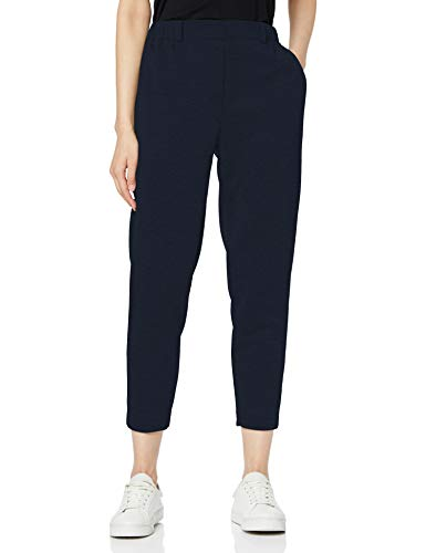 Tommy Hilfiger Rosha Pull on Cropped Pant Pantalon, Bleu (Sky Captain 403), W38 (Taille Fabricant: 8) Femme