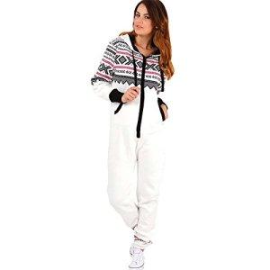 Trends Fashions – Grenouillère – Manches Longues – Femme * – Blanc cassé – XL