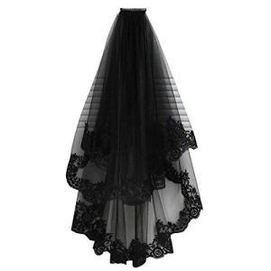 uu19ee Halloween Coiffure Fille Élégant Tulle Cosplay Coiffure Accessoires De Cheveux Noir Plus Insertion Peigne Dentelle Brodée De Voile