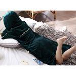 AXSY Robe de Nuit Femme Automne et Hiver Velvet Coral Épaississement Plus Long Velvet Peignoirs Pyjamas d'hiver Chaud Flanelle Chemise de Nuit Chemise de Nuit,M