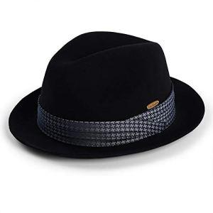 CHENGWJ Chapeau Fedora Panama mâle Printemps Et Automne Hiver Angleterre Élégant Chapeau De Joker Laine Laine Hiver Jazz Chapeau pour Femmes Chapeau De Feutre Chaud